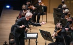 Music director Osmo Vänskä led the Minnesota Orchestra on Friday in its first performance in front of a live audience at Orchestra Hall since March