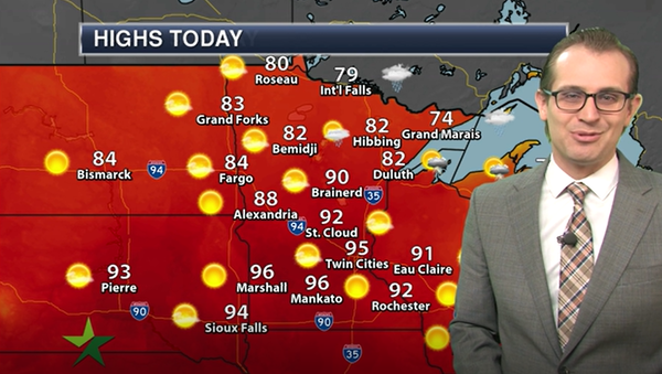 Morning forecast: Highs in low 90s, lower humidity