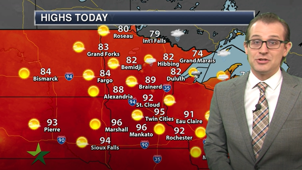 Afternoon forecast: High 95, breezy