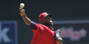 Twins starter Michael Pineda pitched only four innings before leaving the game with arm soreness in a 14-3 loss to the Houston Astros at Target Field