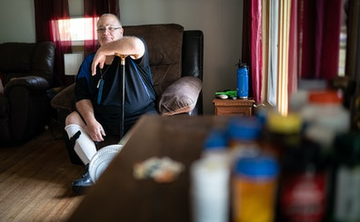 Patrick McClellan must treat his rare form of muscular dystrophy with 32 pills each day. Marijuana helps, but the state's program is too expensive,