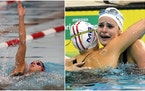 The world record Lakeville's Regan Smith (left) set in the 100-yard backstroke two years ago was broken by Kaylee McKeown of Australia on Sunday.