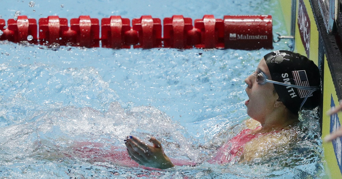 Lakeville's Regan Smith swims fastest time in Olympic trials backstroke preliminaries
