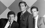 """Tony Franciosa, Gene Barry and Robert Stack in """"The Name of the Game."""""""