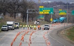 Road construction on Highway 5 near MSP. BRIAN PETERSON • STAR TRIBUNE