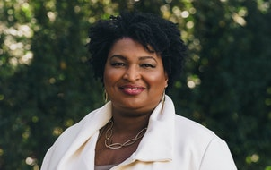 Stacey Abrams at home in Atlanta.