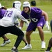 Sorting out changes along the offensive line alongside tackle Brian O'Neill (75) is but one of the areas the Vikings will be working on during their