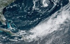 A provided image shows Subtropical Storm Ana, which formed in the Atlantic Ocean on May 22, 2021. The second named storm of this year's hurricane se