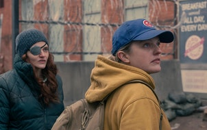 """Madeline Brewer, left, and Elisabeth Moss in """"The Handmaid's Tale."""""""
