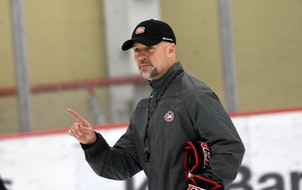 St. Cloud State coach Brett Larson has compiled a 63-32-9 record in three seasons with the Huskies.