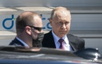 Russian president Vladimir Putin, center, gets into his car after his arrival for the US - Russia summit with US President Joe Biden in Geneva, Switze