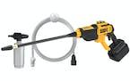 Dewalt 20 V MAX 550 PSI power cleaner has four quick-release nozzles.