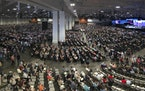People attend the morning session of the Southern Baptist Convention annual meeting Wednesday, June 16, 2021, in Nashville, Tenn. (AP Photo/Mark Humph