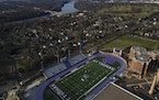 O'Shaughnessy Stadium was photographed at the University of St. Thomas' St. Paul campus in 2020.