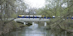 Rendering provided by Met Council A rendering of the Southwest Light Rail train passing through the Kenilworth Lagoon. ORG XMIT: MIN1607201316000459 O