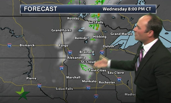 Evening forecast: Low of 71, with storms, some severe, possible