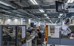 The newsroom of Apple Daily in Hong Kong on Aug. 12, 2020.