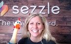 """Sezzle General Counsel Candice Ciresi said the company sent employees company swag, including rubber chickens, to """"keep joy in the workplace."""""""