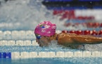 Regan Smith participates in the women's 200 butterfly during wave 2 of the U.S. Olympic Swim Trials on Wednesday