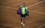 Rafael Nadal waved to the crowd after losing to Novak Djokovic in the French Open semifinals last week. It may be the last time Nadal is seen on a ten