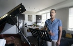 Reese Britts took a voice lesson from Louis Sacco (on piano) at Sacco's condo in St. Paul.     ] RENEE JONES SCHNEIDER • renee.jones@startribune.c
