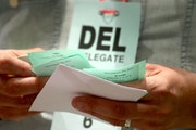 Ballots collected at the Minneapolis DFL convention in 2017 (Star Tribune file photo by David Joles)