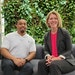 Randall Darden and Christy Sovereign of Accenture.