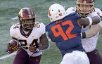 Gophers running back Mo Ibrahim rushed for 1,076 yards and 15 touchdowns in seven games last year.