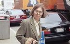 FILE - The New Yorker writer Janet Malcolm leaves the Federal Courthouse in San Francisco on June 3, 1993 in the suit trial brought by psychoanalyst J