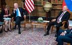President Joe Biden and Russian President Vladimir Putin meet in Geneva on Wednesday.