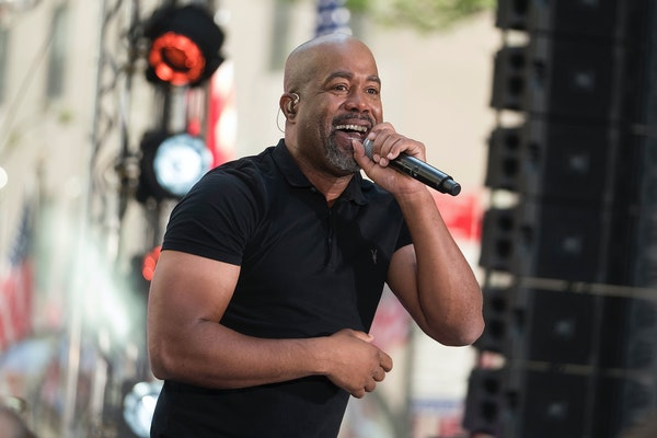 Darius Rucker performs on NBC's Today show at Rockefeller Plaza on Friday, May 25, 2018, in New York.