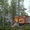 Duluth architect David Salmela designed the lodging at Wild Rice Retreat, including the RicePod.
