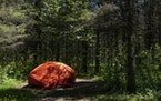 A solo camper's tent was set up at a site in Jay Cooke State Park on May 26, 2021.