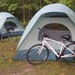 A cyclists campsite in northern Minnesota