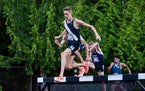 Mason Ferlic had such a good year that he actually qualified for the Olympic trials in the 1,500, steeplechase and 5,000-meter run but said he will on