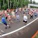 t6.17.17 Bob King — 061817.N.DNT.GRANDMASc6 --- Runners crowd the road at the start of the 2017 Grandma's Marathon Saturday morning. Bob King / rk