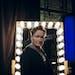 "Conan O'Brien backstage on the set of ""Conan."""