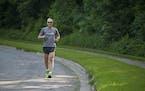 John Naslund, in this 2013 photo, will run his 45th Grandma's Marathon on Saturday.