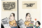 Sack cartoon: Get vaccinated for those you love