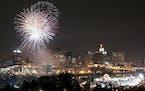 Fireworks at the Taste of Minnesota festival in St. Paul in 2007. (Star Tribune file photo by Carlos Gonzalez)