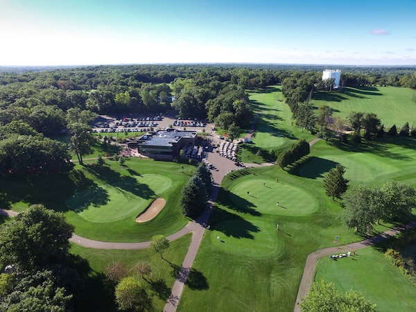 A drone photo gives visitors a bird's eye view of Valleywood Golf Course in Apple Valley.