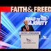 Former Vice President Mike Pence addresses the crowd at the Faith and Freedom Coalition Road to Majority conference in Kissimmee, Fla., on Friday.