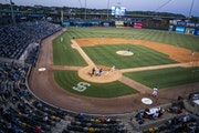 The St. Paul Saints home opener against the Iowa Cubs at CHS Field in St. Paul.