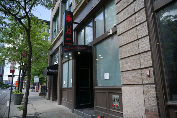 Outside Monarch Minneapolis, here two died and eight were injured in a shooting May 22.