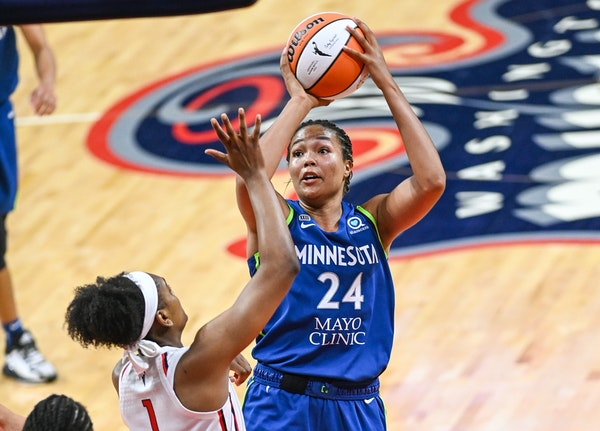 Napheesa Collier, in Washington during a game earlier this month