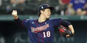 Twins righthander Kenta Maeda pitched into the sixth inning Sunday at Texas to earn his third victory of the season.