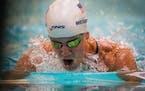 Mallory Weggemann swims the 100-meter breaststroke at the U.S. Paralympic team trials last week.