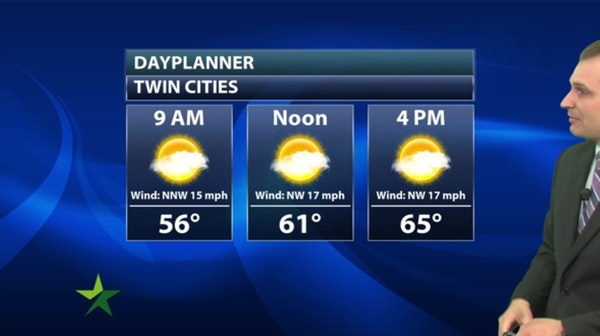 Morning forecast: Cool and dry, high 68