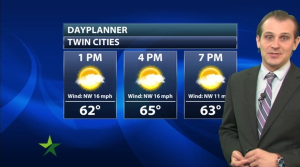 Afternoon forecast: Cool and breezy, high 68