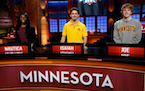 """University of Minnesota students compete in """"College Bowl."""""""
